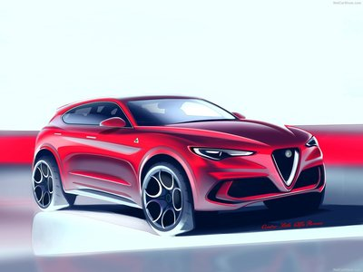 Alfa Romeo Stelvio Quadrifoglio Poster - Alfa romeo posters
