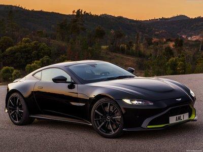 Aston Martin Vantage Onyx Black Poster - Black aston martin