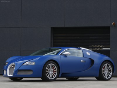 Bugatti Veyron Bleu Centenaire 2009 poster #575930